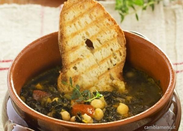 Cambia menu zuppa di ceci e cavolo nero ricette - Cucinare il cavolo ...